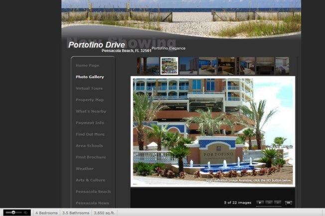Portofino Condo Web Site